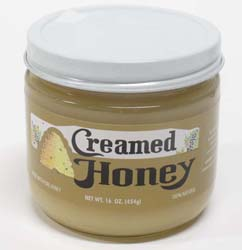 16oz Creamed Honey: 12 Jars