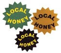Local Honey Label: 1 inch