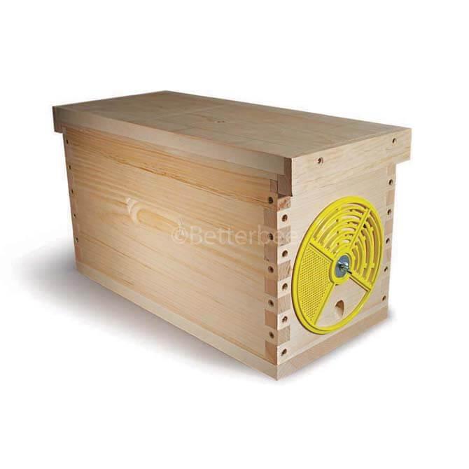 Assembled wood nuc hive port betterbee for L ported box dimensions