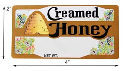 Bee Skep: Creamed Rectangle