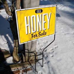 Small Honey for Sale Sign