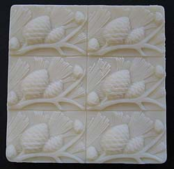 Six Pine Cone Soap Mold