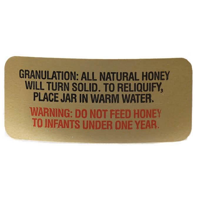 Gold Granulation Labels