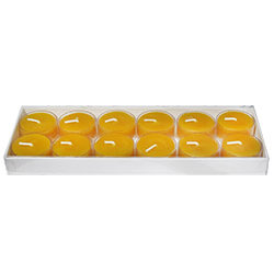 Yellow Beeswax Tealights: 12PK