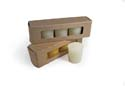 Yellow Beeswax Votives: 4PK