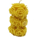 Beeswax Candle: Fading Rose