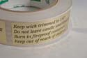 Candle Warning Label