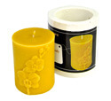 Small Cylinder Orchid Candle M